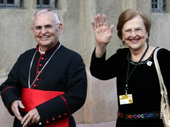 D. Paulo Evaristo e sua irmã Dra. Zilda Arns- Pastoral da Criança (in memoriam)
