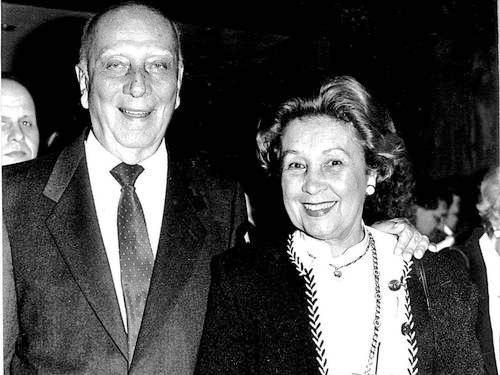 Deputado Ulysses Guimarães e sua mulher d. Mora