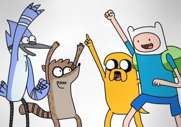 Mordecai, Rigby, Jake e Finn